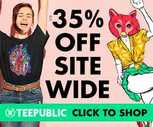 35% off Sitewide at TeePublic