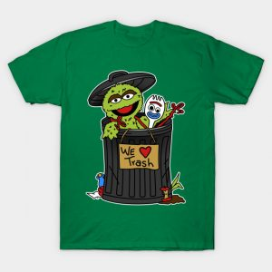 Oscar the Grouch and Forky T-Shirt