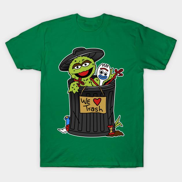 Oscar the Grouch and Forky T-Shirt