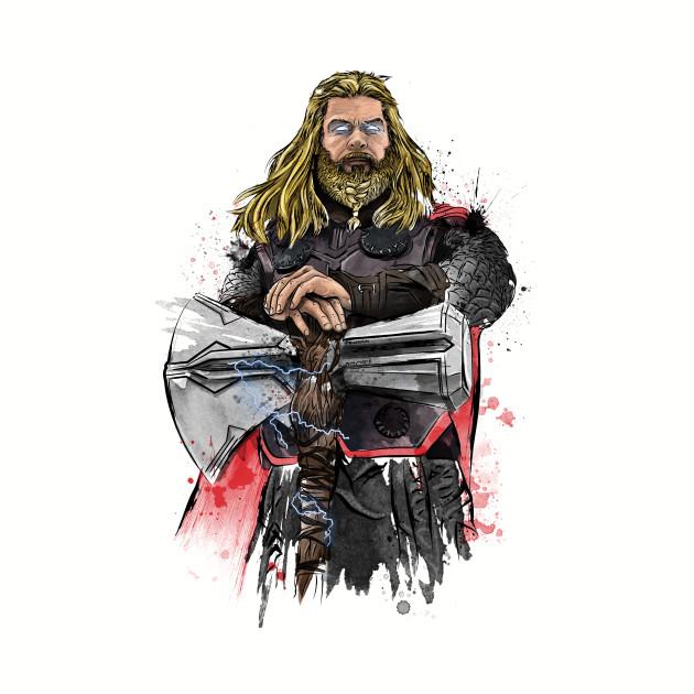God of Thunder Watercolor