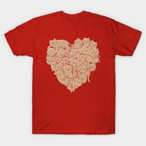 I Love Cats Heart T-Shirt