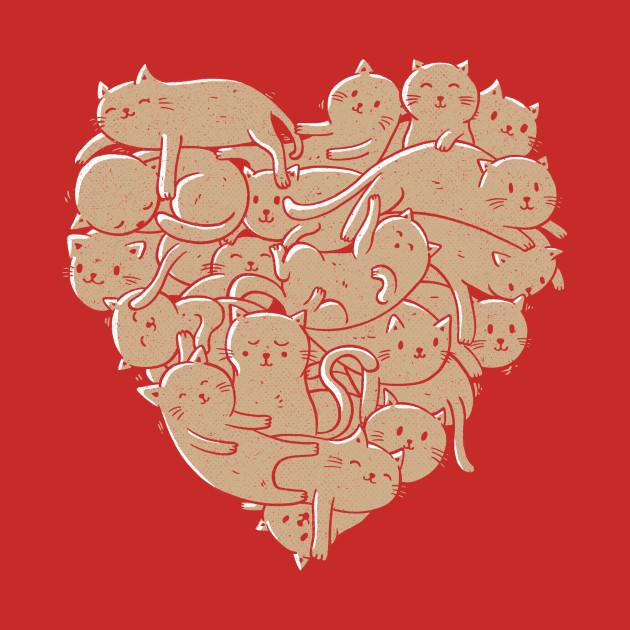 I Love Cats Heart