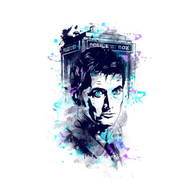 Watercolor Tenth Doctor