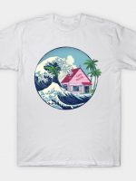 the great wave at kame house T-Shirt