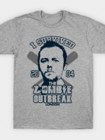 I survived the zombie outbreak T-Shirt