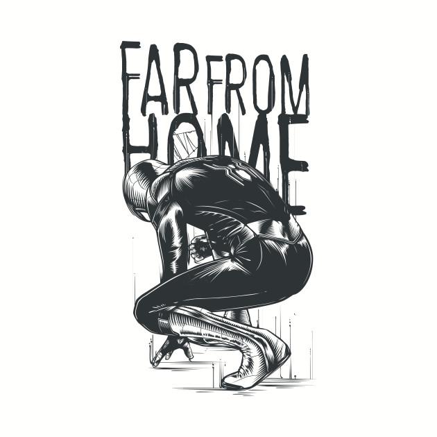 Monochrome Spiderman Far From Home