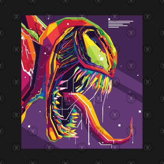 Symbiote Monster Pop Art