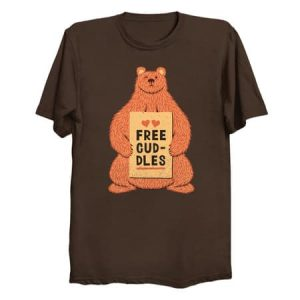 Cute Bear Free Cuddles Orange T-Shirt