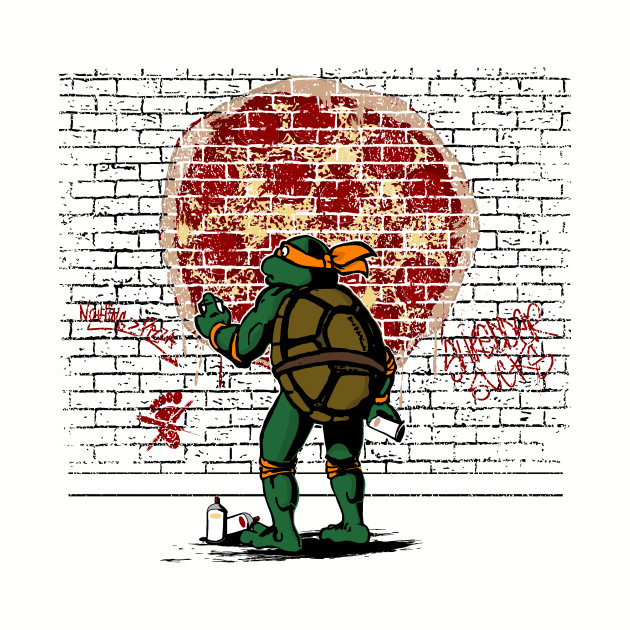 Graffiti Mutant Ninja Turtle