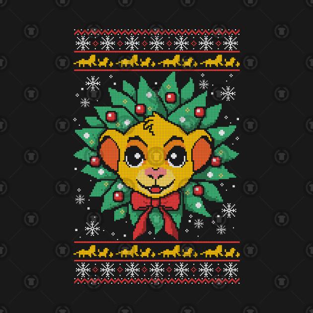 Lion christmas ugly sweater