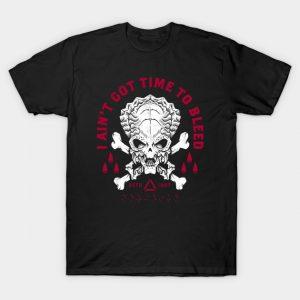 Predator - Skull - Ain't Got Time To Bleed T-Shirt