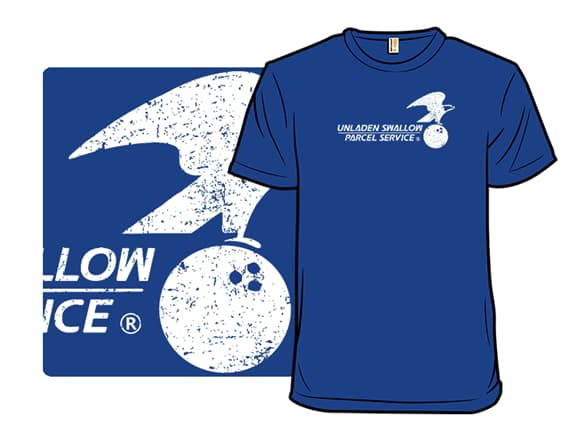 Unladen Swallow Parcel Service T-Shirt