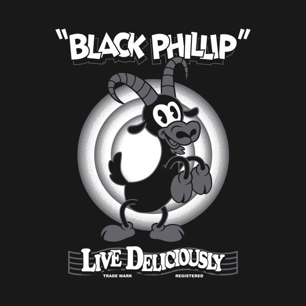 Black Phillip - Vintage Cartoon