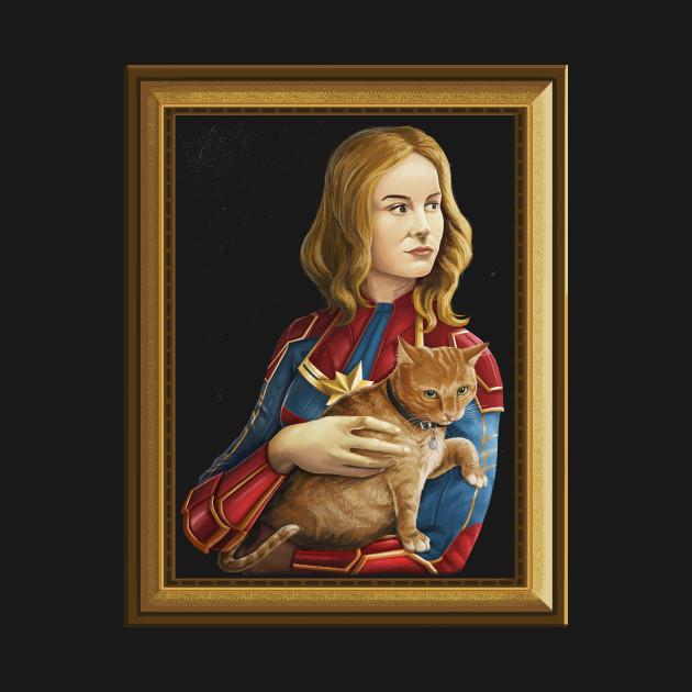 Heroine with an cat frame