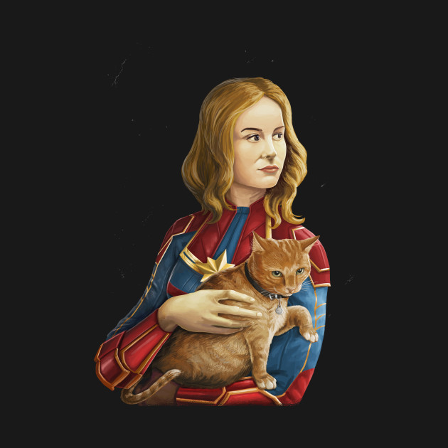 Heroine with an cat