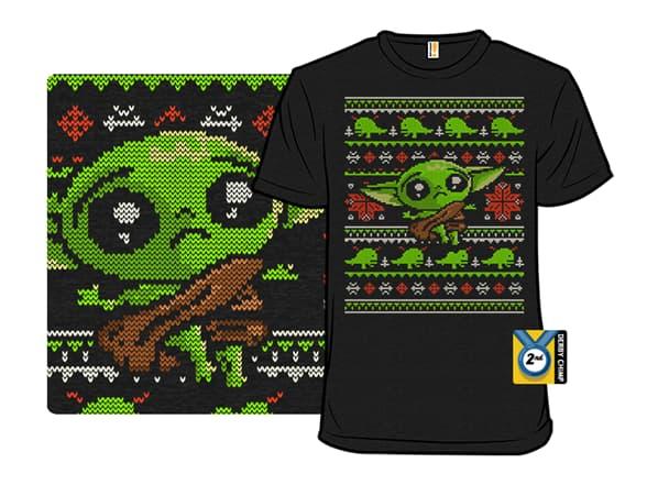 Baby Yoda Ugly Christmas Sweater Parody T-Shirt