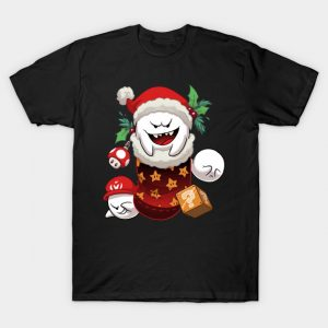 Super Mario Bros Christmas Stocking T-Shirt