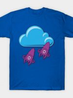 Cloudy with a chance of squidfall T-Shirt