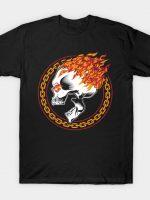 Flaming Metal Skull T-Shirt