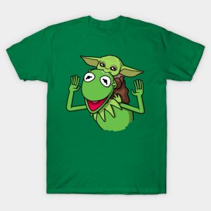 Baby Yoda and Kermit the Frog T-Shirt