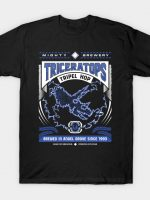 Mighty Brews - Blue Triceratops T-Shirt