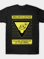 Thieves operate in this Chiral Network Area T-Shirt