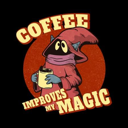 Coffee improves my magic