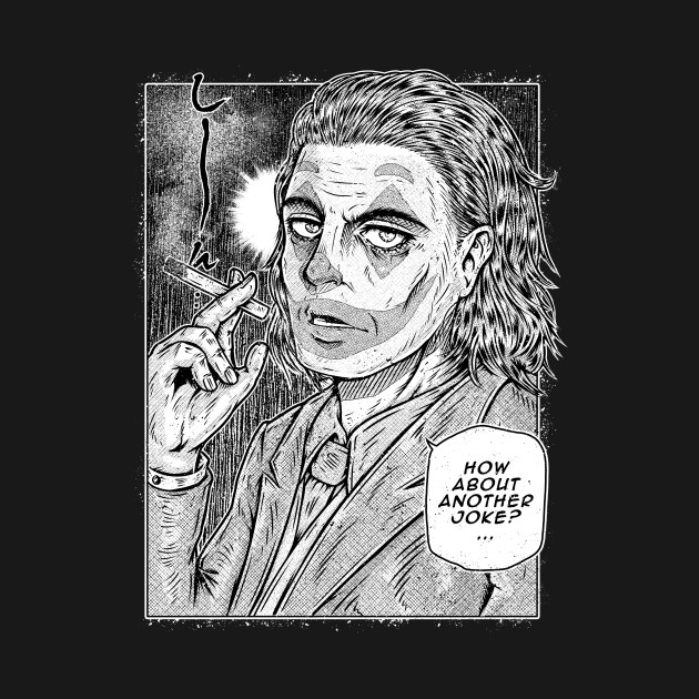 Manga Clown Black and White