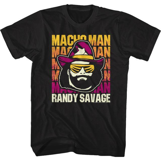 Repeating Macho Man Logo