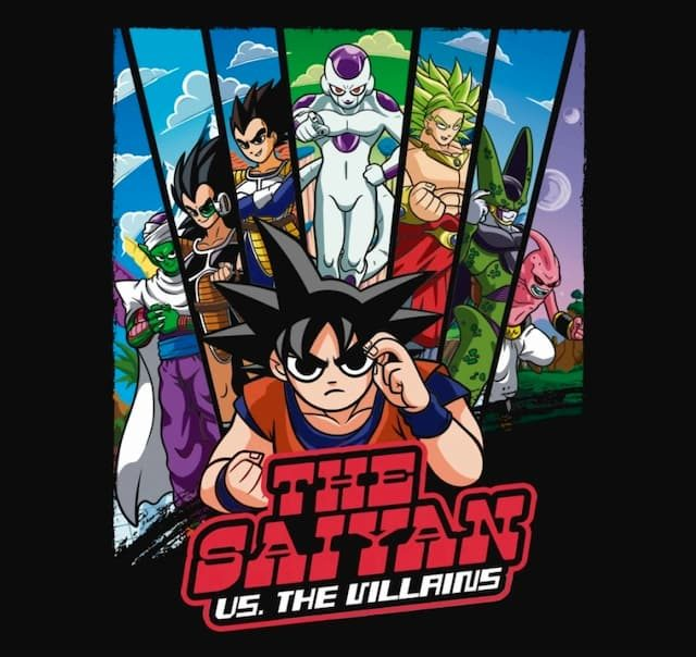 THE SAIYAN VS THE VILLAINS