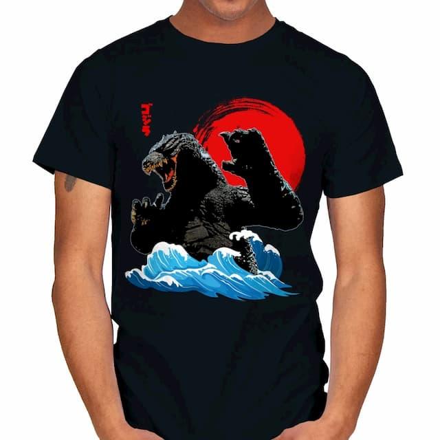 GODZILLA WAVE JAPAN ART T-Shirt