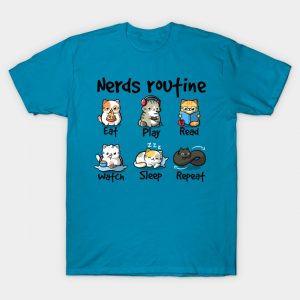 Nerds routine cat T-Shirt