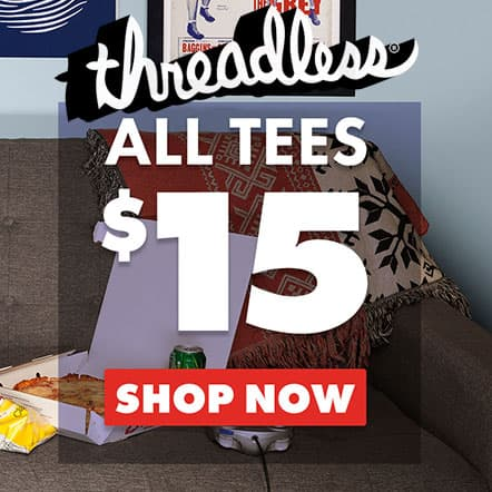 Threadless $15 T-Shirt Sale