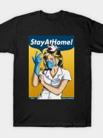 Stay Home Fight Coronavirus T-Shirt