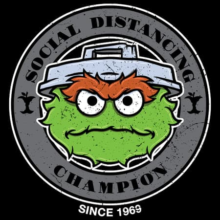 Social Distancing Grouch T-Shirt