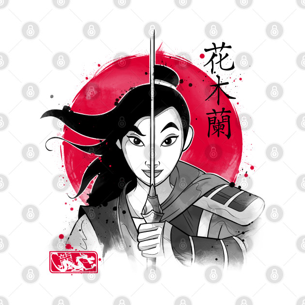 Warrior Princess Sumi e