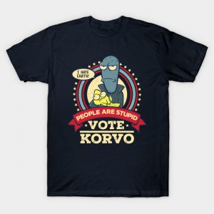 People Are Stupid - Vote Korvo T-Shirt