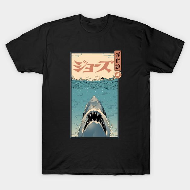 Jaws Ukiyo-e T-Shirt