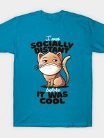 Socially Distant Cat T-Shirt