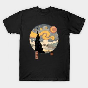 Starry Ukiyo-e Night T-Shirt