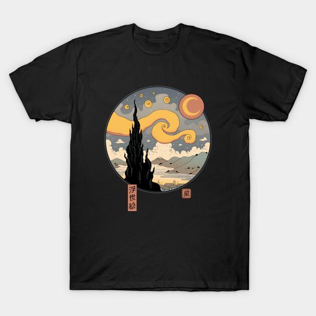 Starry Ukiyo-e Night T-Shirt