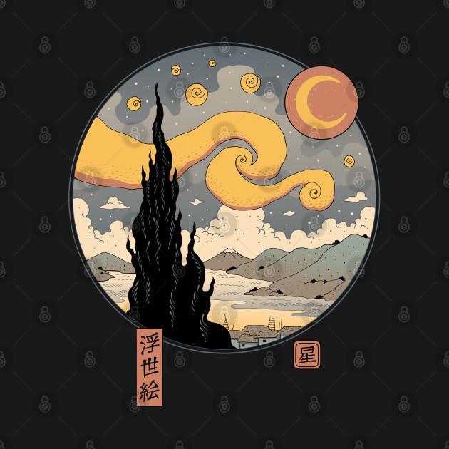 Starry Ukiyo-e Night