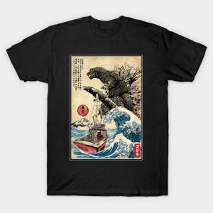 Orca in Japan Woodblock T-Shirt