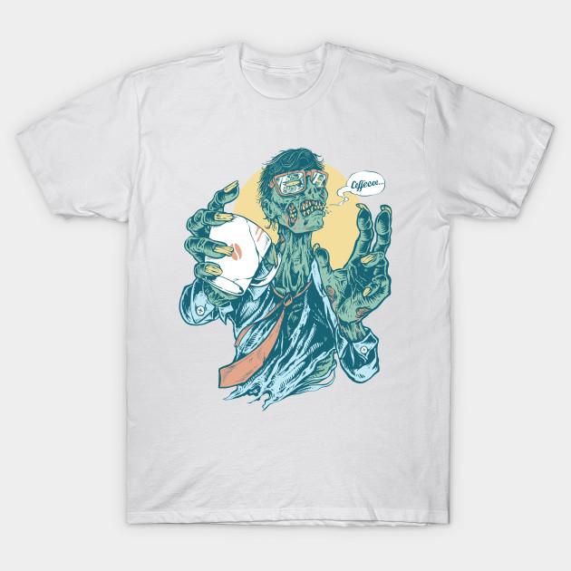 No Coffee Me Zombie  T-Shirt