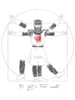 Vitruvian Black Knight T-Shirt