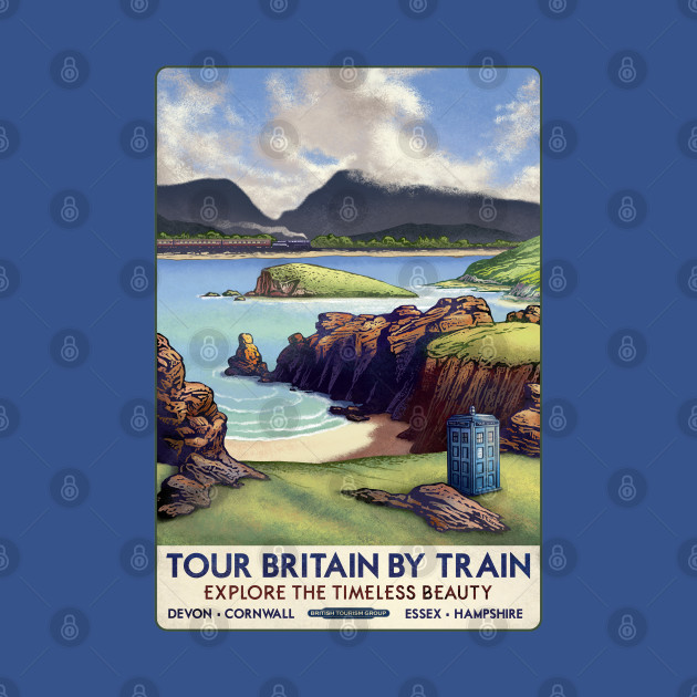 Dr Who Railway Travel Poster