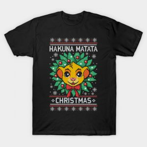 Hakuna matata ugly christmas sweater T-Shirt