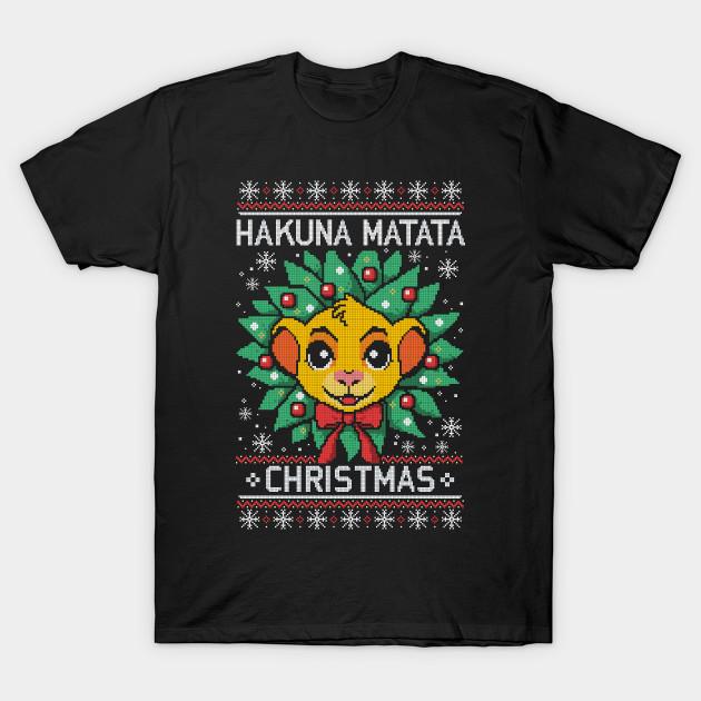 Hakuna matata ugly christmas sweater T-Shirt