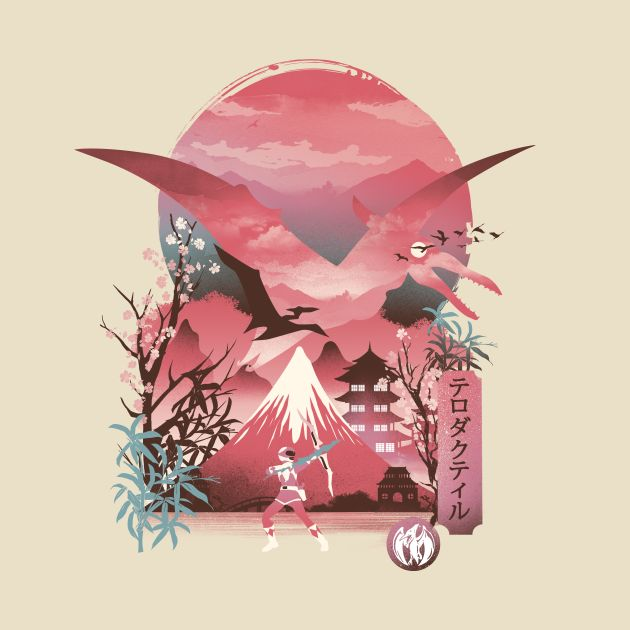 Pink Ranger Ukiyo E