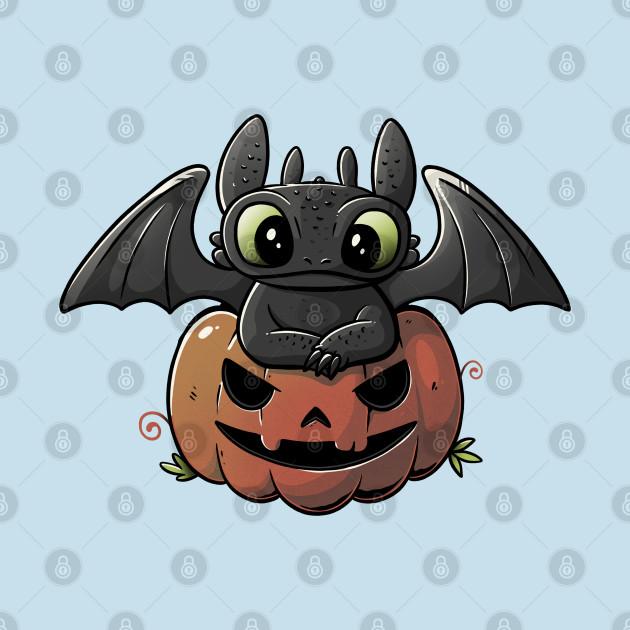 Spooky Dragon Cute Funny Halloween Pumpkin